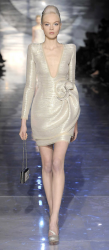 Giorgio Armani Spring collection 2010 with short light gold dress picture.PNG