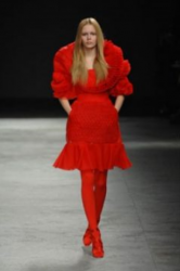 Givenchy Couture Spring 2008 with bright red outfit.PNG