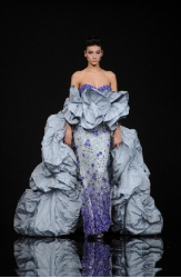 Georges Hobeika 2009 summer collection with blue and purple gown.PNG