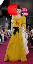 Bright yellow Christian Lacroix gown pictures.PNG