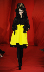 Christian Lacroix 2008 Fall Couture Collection with black top and bright yellow bottom.PNG