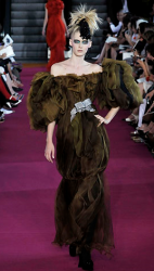 Christian Lacroix gown picture with greenish brown dress.PNG