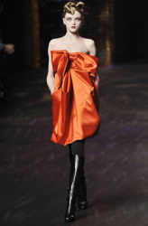 Christian Lacroix short dress in bright orange.PNG