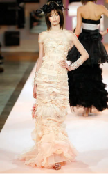 Picture of Christian Lacroix gown in peach creamy color.PNG