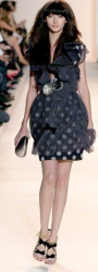 Short Christian Lacroix black and white dress.PNG
