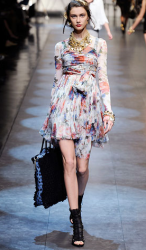 Dolce and Gabbana multi color short dress from their Spring Collection 2010.PNG