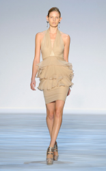 Light tan cute short dress from Christian Siriano Spring 2010 Collection photo.PNG