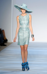 Shinny blue short dress from Christian Siriano 2010 collection.PNG