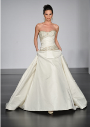 Trendy cream wedding gown by Platinum by Priscilla of Boston.PNG