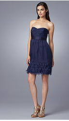 Feather-Hem Pleated Silk Strapless Dress by Phoebe Couture.PNG