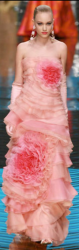 Beautiful pink grown with big floral patterns at Valentino fashion show picture.PNG