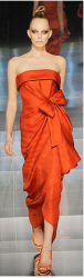 Bright orange modern gown from Valentino collection of spring 2009.PNG