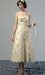 Gold wedding dreses in medium short length.PNG