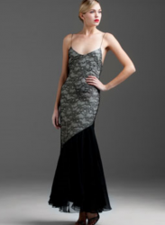 Chanel Vintage Black Lace & Silk Chiffon Gown_Chanel dress pictures.PNG