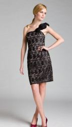Kay Unger Asymmetrical Lace Overlay Dress photo.PNG
