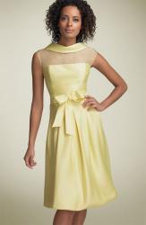 Teri Jon Illusion Silk Blend Cocktail Dress yellow.jpg