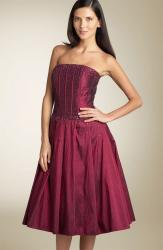 Sean Collection Strapless Beaded Taffeta Dress red.jpg