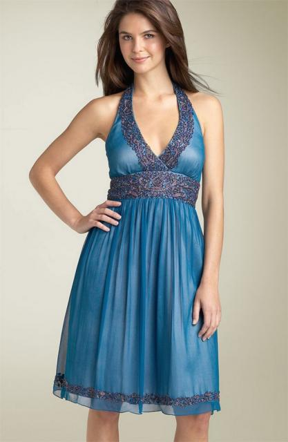 Adrianna Papell Beaded Chiffon Halter Dress.jpg