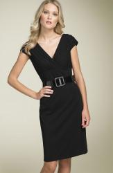 Belted Ponte Knit Sheath Dress by Adrianna Papell.jpg