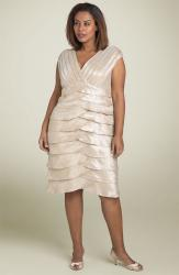 Adrianna Papell Pleated Tier Dress for woman plus size.jpg