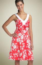Donna Morgan Bow Front Sundress in orange red.jpg