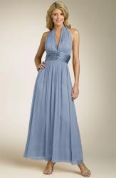 Maggy London Chiffon Gown with Charmeuse Waist in purple blue.jpg