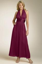 Maggy London Chiffon Gown with Charmeuse Waist in dark red.jpg