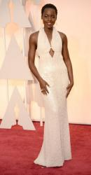 Lupita Nyong'o on red carpet wearing Calvin Klein Collection at the 87th Aunnual Academy Awards.JPG