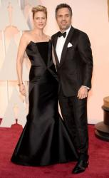 Sunrise Coigney wearing Rubin Singer and actor Mark Ruffalo attend the 87th Annual Academy Awards 2015.JPG