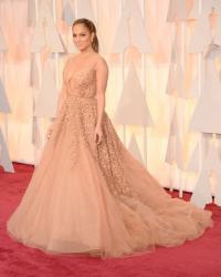 Best Dressed at red carpet 2015 images of Jennifer Lopez in Elie Saab as she attends the 87th Annual Academy Awards.JPG