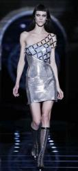 Silver Versace Fall Winter 2012 Collection Runway.JPG