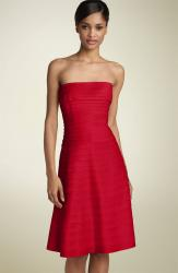 picture of red dress Adrianna Papell Strapless Laser Cut Satin.jpg