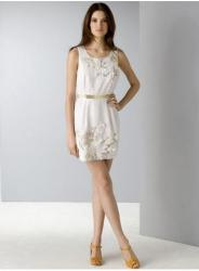 French Connection Women's Wood Garden Embroidered Dress in white.jpg
