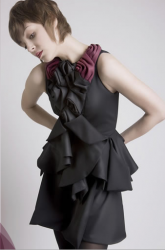 Leanne's Fall 2008 collection with this very cool blackish gray dress with dark red roses.PNG