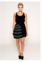 Bright Lights Big City dress in black and short length by Leanne Marshall.PNG