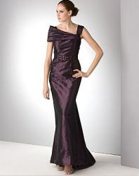 Rickie Freeman for Teri Jon Long Off Shoulder Satin Gown.JPG