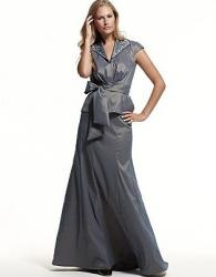 Tadashi Shoji Embellished Taffeta Top and Skirt in light grey.JPG