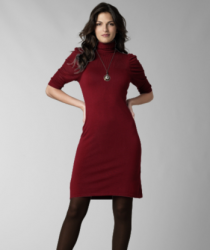 Sophie Max Turtleneck Sweater Dress in dark red.PNG